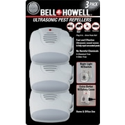 Bell+Howell Ultrasonic Pest Repeller with Night Light, 3-Pack