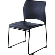 National Public Seating Stacking Chair, Navy 4/Pack