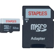 Staples® 32GB MicroSDHC Card With SD Adapter