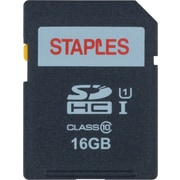 Staples 16GB High Speed SDHC Card Class 10, Flash Memory Card