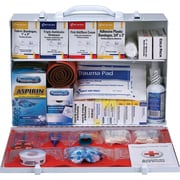 First Aid Only® 75 Person, 2 Shelf First Aid Metal Cabinet, ANSI B+, Type I & II, With Medications (90573)