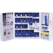 First Aid Only® 50 Person Large Plastic SmartCompliance® First Aid Cabinet, ANSI A+ Type I & II With Medication (90608)