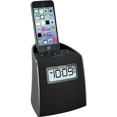 iHome Lightning Clock Radio For Iphone/Ipod Gunmetal