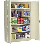 "Tennsco 78""H Assembled Jumbo Steel Storage Cabinet with 4-Shelves, Putty (TNN-J1878SUPY)"
