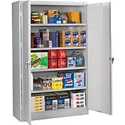 "Tennsco Assembled Jumbo 18""D Steel Storage Cabinet, Light Gray"