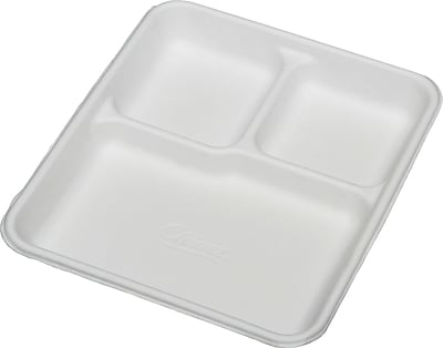 SKILCRAFT 3 Compartment Disposable Plates - Plate