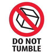 "Tape Logic® Labels, ""Do Not Tumble"", 3"" x 4"", Red/White/Black, 500/Roll"