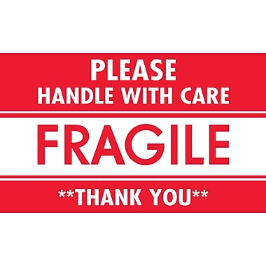 Fragile Handle With Care 3 x 5