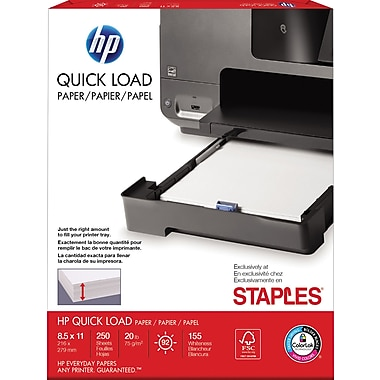 Exclusivité BUREAU EN GROS – Papier Quick Load HP®, 8 1/2 po x 11 po, format lettre, blanc