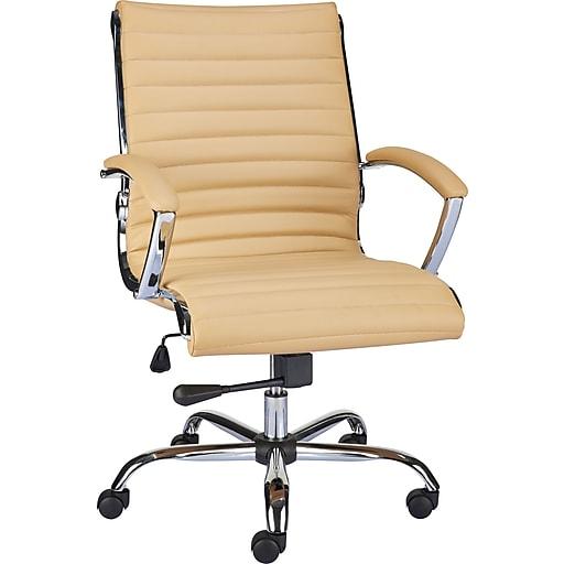Staples® Bresser™ Luxura Managers Chair, Tan
