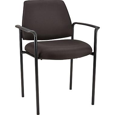 Great Staples Vardi™ Fabric Guest Chair, Black