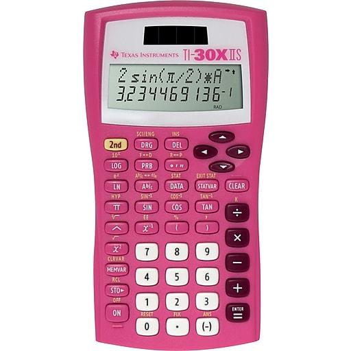 Texas Instruments® TI-30XIIS Scientific Calculator, Pink | Staples