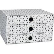 "Paperchase Get Organized, 3 Drawer Storage, 12.2"" x 8.9"" x 7.1"""