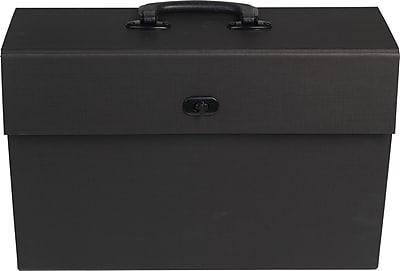 Paperchase Kraft Black Filing Case w/ Handle