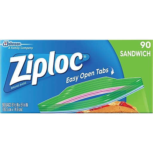 Ziploc sandwich bags clear staples httpsstaples 3ps7is reheart Image collections