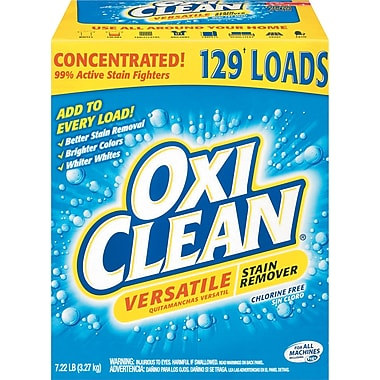 OxiClean® Versatile Stain Remover, Regular Scent, 7.22 Lb Box, 4/Ct