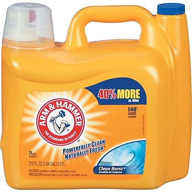 Dual He Clean-Burst Liquid Laundry Detergent, 210oz Bottle