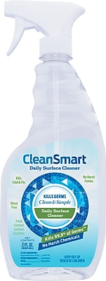 Smart Spray Daily Surface Disinfectant Cleaner, 23 Oz Bottle, 6/Ct