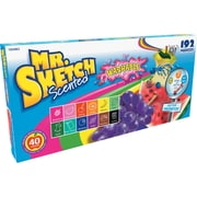 Mr. Sketch® Scented Washable Markers, Chisel, Assorted Colors, 192/Set