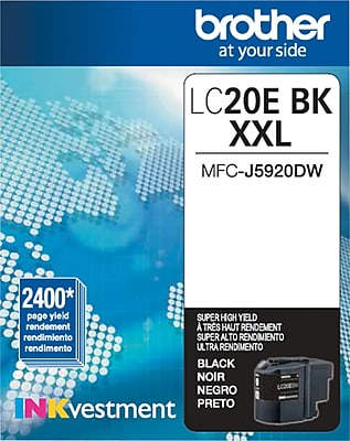 Brother Genuine LC20EBK Black Super High Yield Original Ink Cartridge