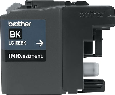 Brother Genuine INKvestment LC10EBK Black Super High Yield Original Ink Cartridge