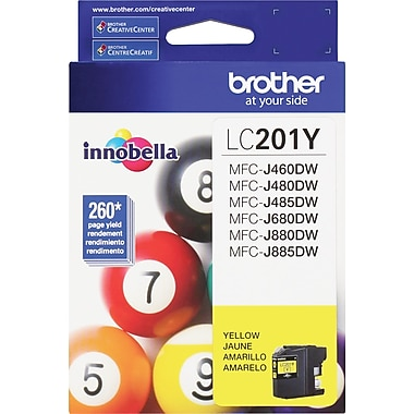 Brother LC201 Yellow Ink Cartridge, LC201Y