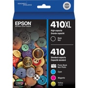 Epson 410XL Black & Standard Photo Black and C/M/Y Color Ink Cartridges (T410XLBC-S), Combo 5/Pack
