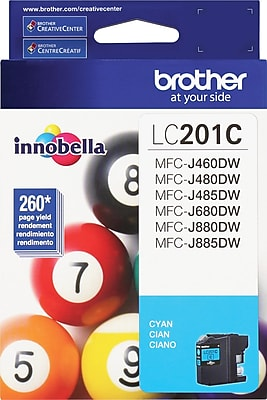 Brother Genuine LC201C Cyan Original Ink Cartridge