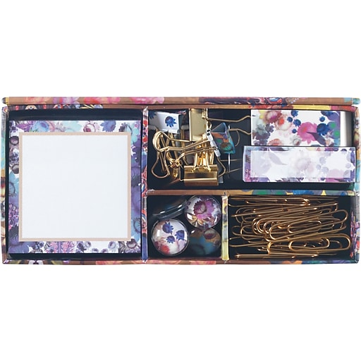 Cynthia Rowley Office Essentials Kit, Gilded Gold Floral