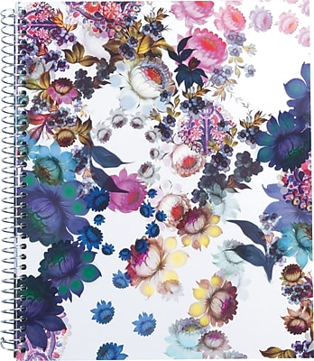 "Cynthia Rowley Notebook, Cosmic White Floral 8.5""x11"" (28640-US)"
