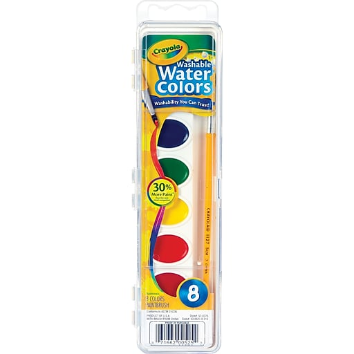 Crayola® Washable Watercolors, 8-Color Set | Staples