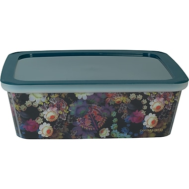 Cynthia Rowley Small Plastic Storage Box, Cosmic Black Floral