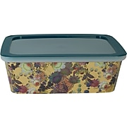 Cynthia Rowley Small Plastic Storage Box, Gilded Gold Floral