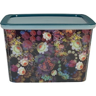 cynthia rowley large storage box cosmic black floral - Decorative File Boxes