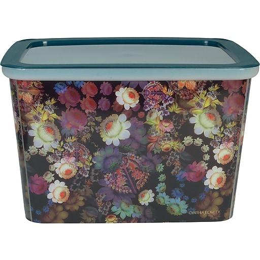 Cynthia Rowley Large Storage Box, Cosmic Black Floral