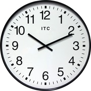 "Infinity Instruments 19"" Large Automatic Time Adjustment Wall Clock, Clarke"