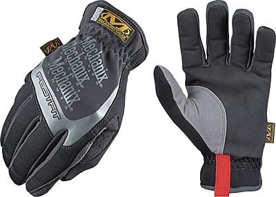 Mechanix Wear® FastFit® High Dexterity Gloves, Spandex/Synthetic, Elastic, Large, Black