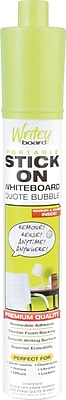 Writeyboard Quote Bubble Stick On Dry-Erase Board, 1 x 1.5 ft.