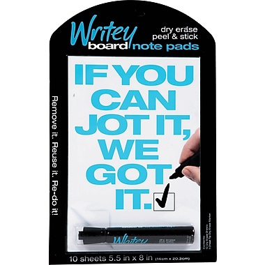 Writeyboard, Reusable 10 Check Box Dry-Erase Notepads and Markers (10002)