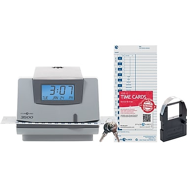 Pyramid 3500 Digital Time Clock & Date Stamp, Grey (3500)