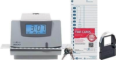 Pyramid 3500 Digital Time Clock & Date Stamp, Grey (3500)