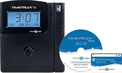 Pyramid TimeTrax™ EZ Series Automated Swipe Card Time & Attendance System, Ethernet, Black (TTEZEK)