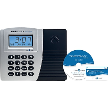 Pyramid TimeTrax Elite Series, Automated Proximity Time Clock System,  Ethernet, Silver/Black, (TTPROXEK)