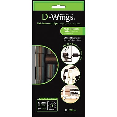 D-WINGS CORD CONTROL, LARGE, BLACK, SET OF 12