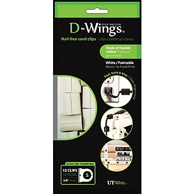 D-WINGS CORD CONTROL, LARGE, WHITE, SET OF 12