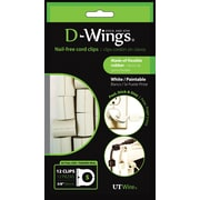 D-WINGS CORD CONTROL, SMALL, WHITE, SET OF 12