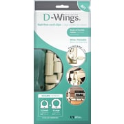 D-WINGS CORD CONTROL ASSORTED KIT, WHITE, SET OF 18