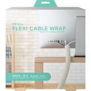 12' FLEXI CABLE WRAP, WHITE