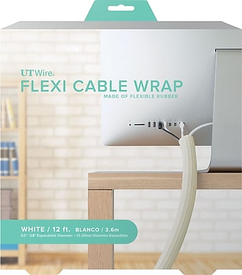 12' FLEXI CABLE WRAP, WHITE