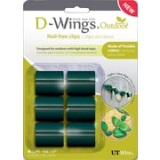 D-WINGS OUTDOOR CORD CONTROL, LARGE, GREEN, SET OF 6